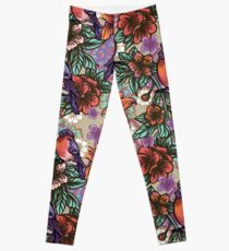 Bullfinch Floral Pattern Leggings