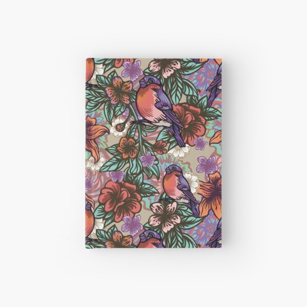 Bullfinch Floral Pattern Hardcover Journal