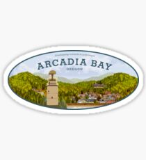 Pegatina La vida es extraña - Arcadia Bay Logo (Día)