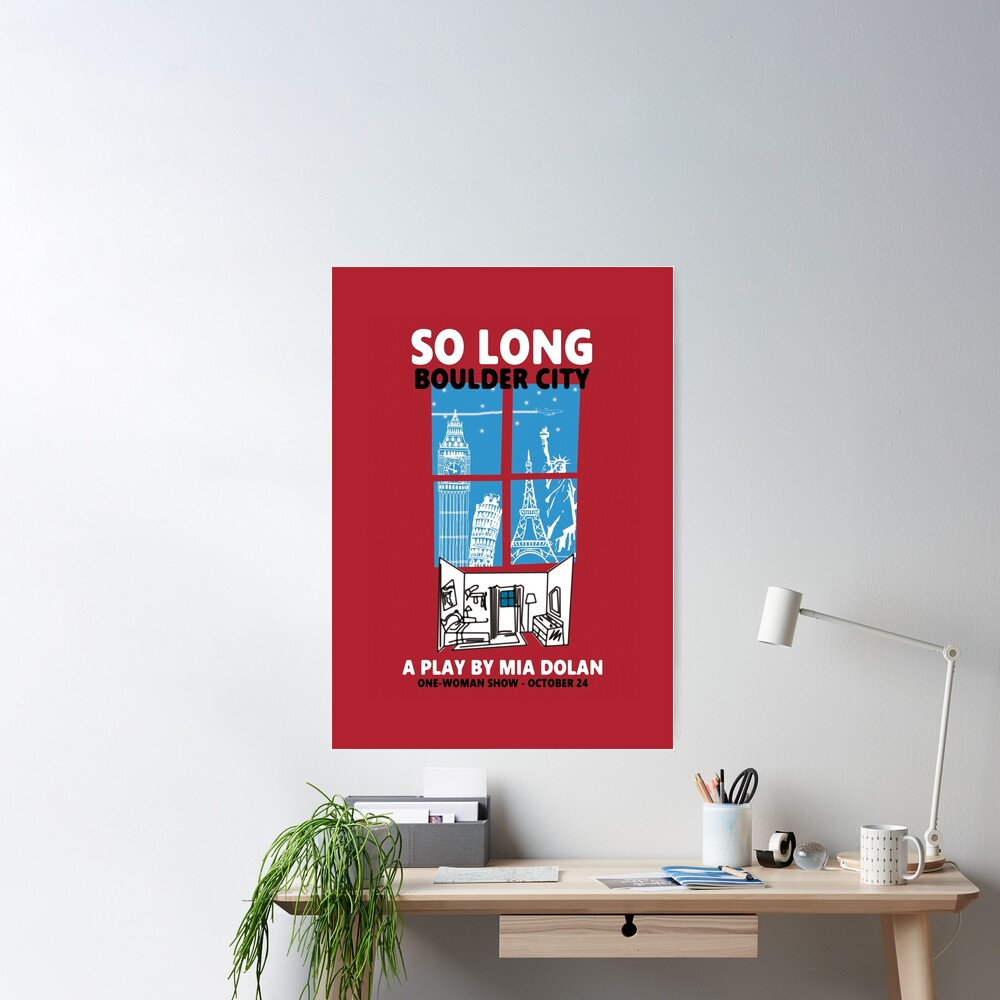 LA LA LAND SO LONG BOULDER CITY Poster