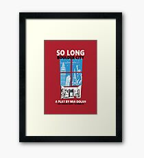 LA LA LAND SO LONG BOULDER CITY Framed Print