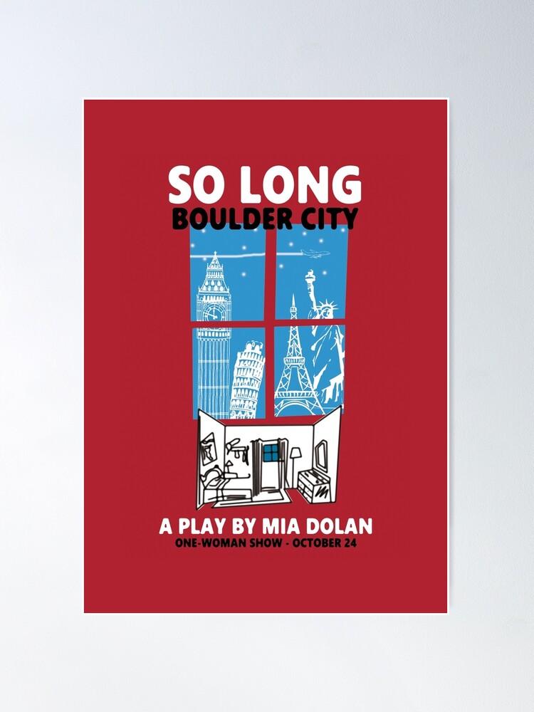 Alternate view of LA LA LAND SO LONG BOULDER CITY Poster