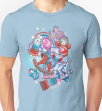 Children's Toys Colorful Cute Pattern and Illustration Slim Fit T-Shirt