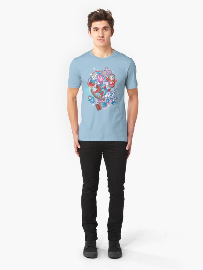 Alternate view of Children's Toys Colorful Cute Pattern and Illustration Slim Fit T-Shirt