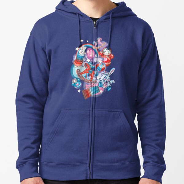 Children's Toys Colorful Cute Pattern and Illustration Zipped Hoodie