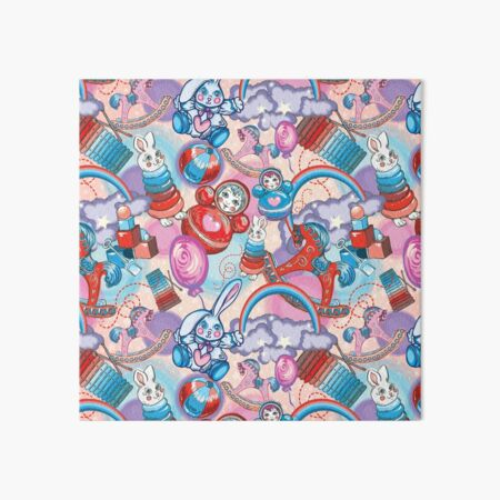 Children's Toys Colorful Cute Pattern and Illustration Art Board Print