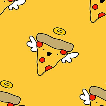 Angel Pizza Pattern by SaradaBoru