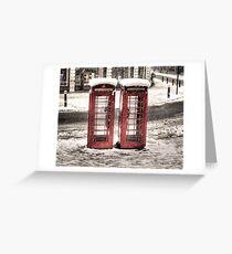 Phonebox - Snow II Greeting Card