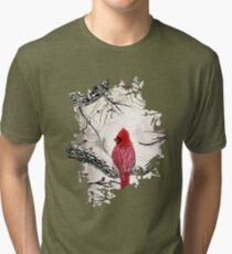 Red Robins Winter Tri-blend T-Shirt