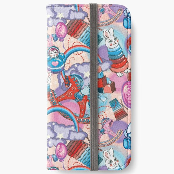 Children's Toys Colorful Cute Pattern and Illustration iPhone Wallet
