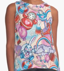Children's Toys Colorful Cute Pattern and Illustration Contrast Tank