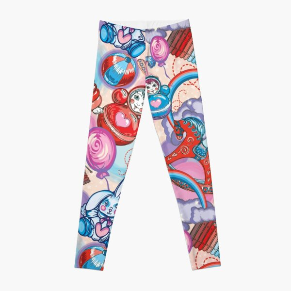 Children's Toys Colorful Cute Pattern and Illustration Leggings
