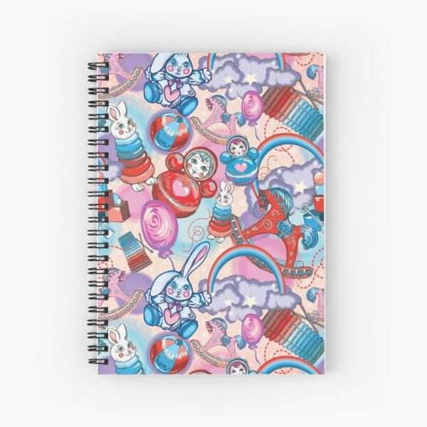 Children's Toys Colorful Cute Pattern and Illustration Spiral Notebook