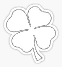 Clover Outline Sticker