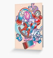 Children's Toys Colorful Cute Pattern and Illustration Greeting Card