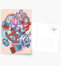 Children's Toys Colorful Cute Pattern and Illustration Postcards
