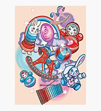 Children's Toys Colorful Cute Pattern and Illustration Photographic Print