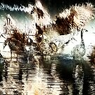 Canada Geese Abstract by TLWhite