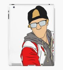 Justin with hat iPad Case/Skin