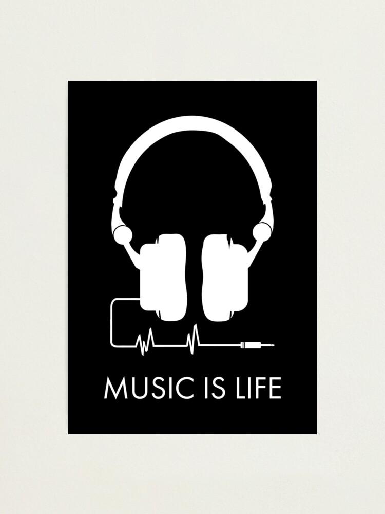 Music Is Life Headphone Heartbeat Standard Unisex T-Shirt