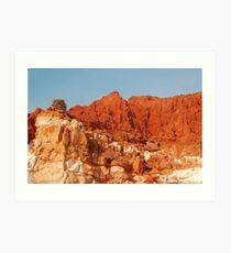 Osprey & Nest, Pindan Cliffs, James Price Point ,Broome WA Art Print