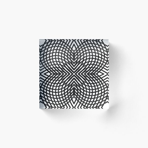 disk, disc, circumference, ring, round, periphery, circuit, coterie Acrylic Block