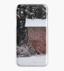 The Shed in Snowfall iPhone Case/Skin
