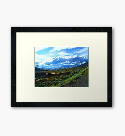 Between Kamloops and Cache Creek (1) Framed Print