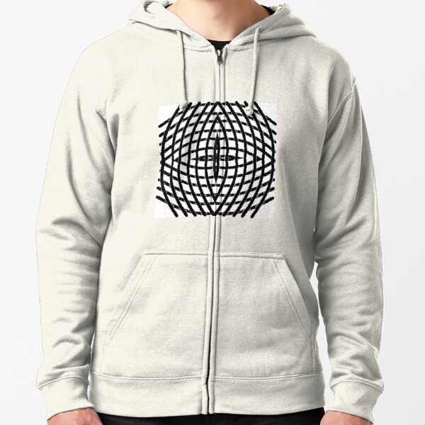 blazon,  character, letter, sign, type, o, 0, circle, range, round Zipped Hoodie