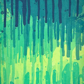 Green Grunge Color Splatter Graffiti Backstreet Wall Background  von badbugs