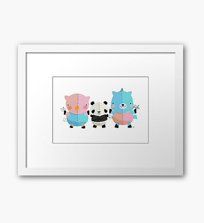 Origami Party  Framed Print