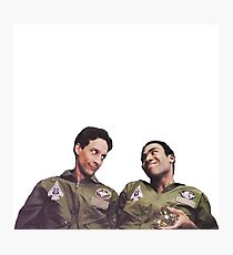 Troy and Abed Photographic Print