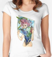 Swimming Mind Women's Fitted Scoop T-Shirt