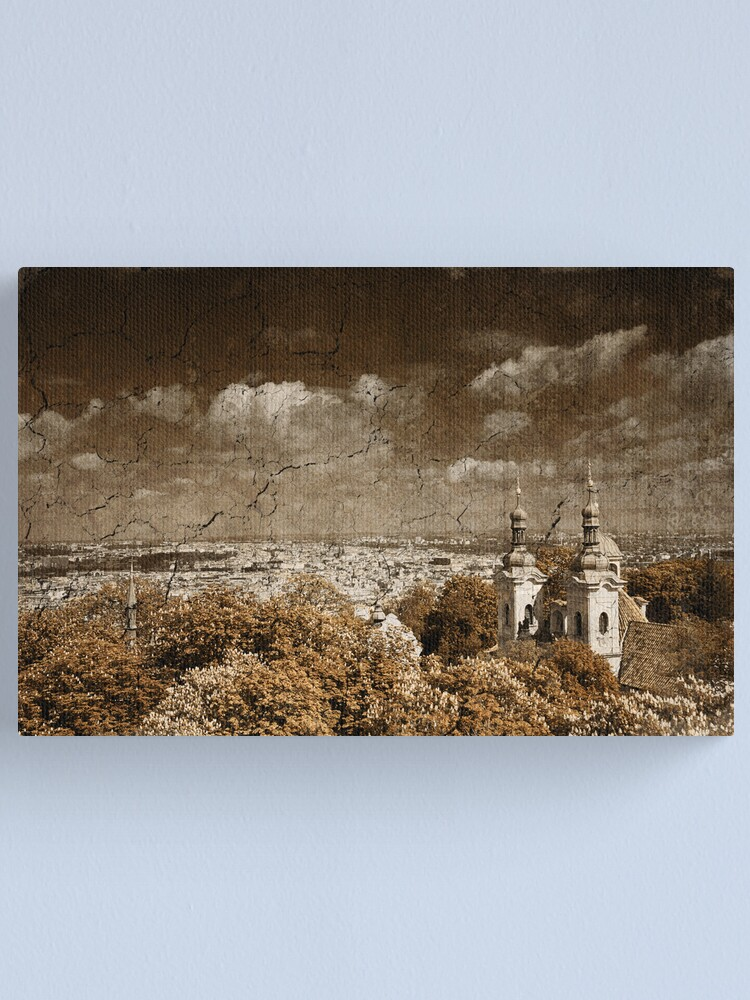 Alternate view of Greetings from Prague Canvas Print