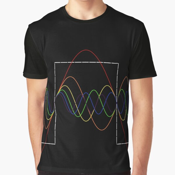 Square Wave Fourier Transform: Night Edition Graphic T-Shirt