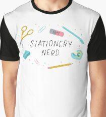 Stationery Nerd Geek Humor Graphic T-Shirt