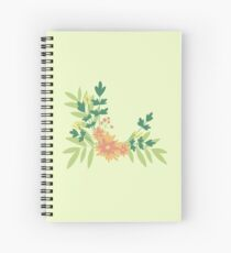 Citrus Floral Spiral Notebook