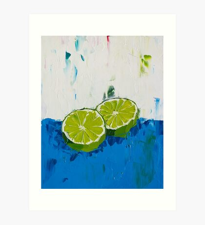 Naming of the Lime Art Print