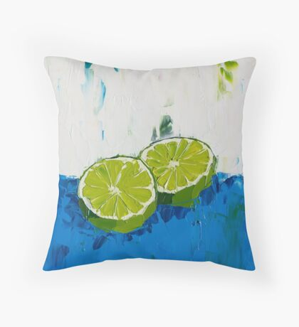 Naming of the Lime Throw Pillow