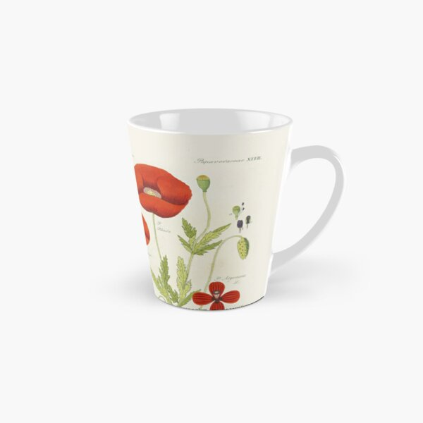 Botanical illustration: Poppy by David Dietrich – State Library Victoria Tall Mug