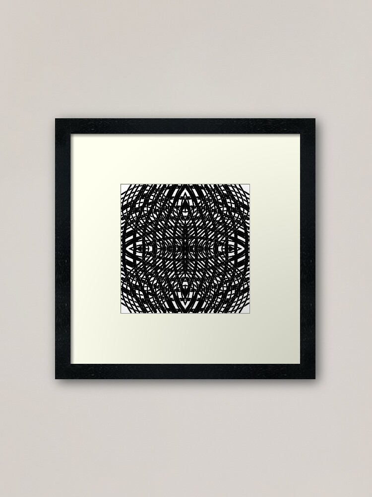 Alternate view of Round, lap, disk, disc, circumference, ring, round, periphery, circuit, coterie Framed Art Print