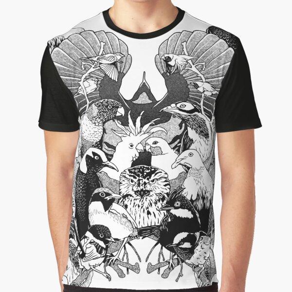 Australian Birds Graphic T-Shirt