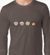 Emoji goldene Mädchen Langarmshirt