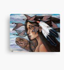 Sky Woman Iroquois Mother Goddess Canvas Print