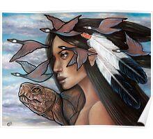 Sky Woman Iroquois Mother Goddess Poster