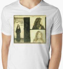 Janis Joplin Mug Shot 1969 Photo Gold Men's V-Neck T-Shirt