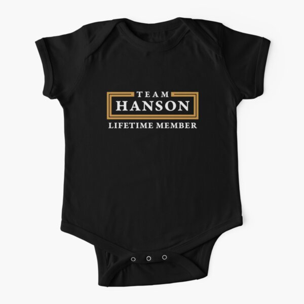Team Hanson Lifetime Member Surname Shirt Short Sleeve Baby One-Piece