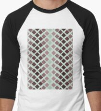 Red Abstract Retro Pattern Men's Baseball ¾ T-Shirt