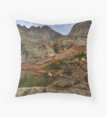 Peacock Lake in Rocky Mountain National Park, Colorado. Throw Pillow