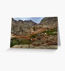 Peacock Lake in Rocky Mountain National Park, Colorado. Greeting Card